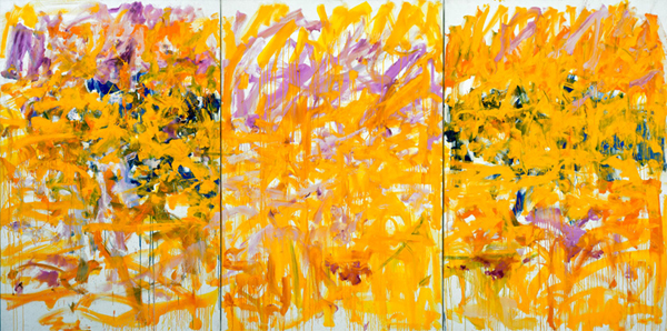 Untitled, 1979. Oil on canvas (triptych), 76 3/4 x 153 1/2 inch