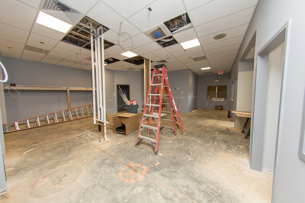 Treatment room in Frederick County's newest veterinary hospital