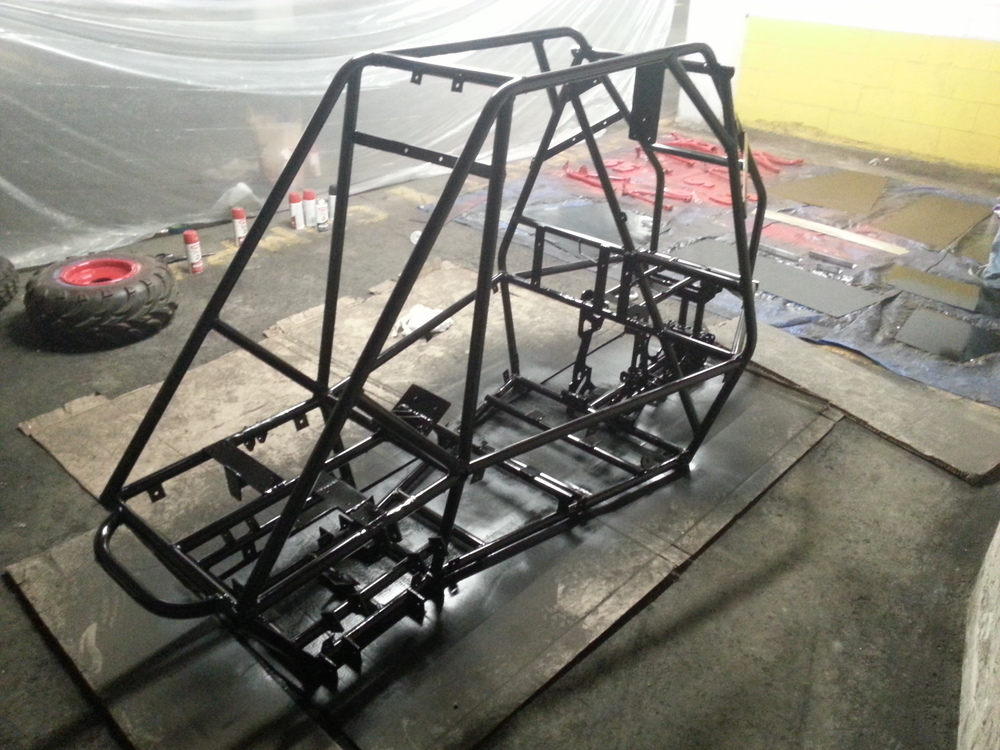 Fully spray-painted frame