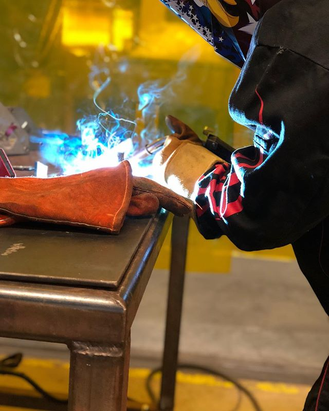 Welding 101 • • • • #baja #bajasae #sae #welding #rochester2019 #bostonuniveristy #engineering #tech #cars #mechanicalengineer