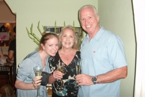 Cheersing with my parents!