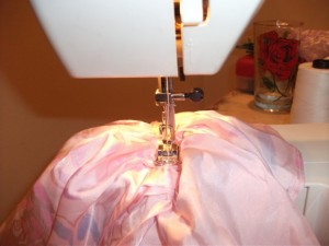 Sewing the new seam!