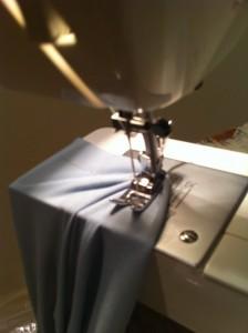 Stitching my hem!