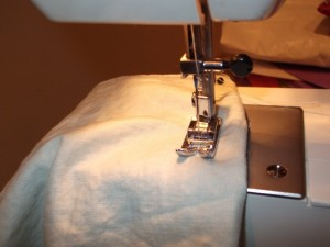 Sewing some edges!