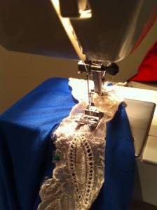Stitchin it all in place!!