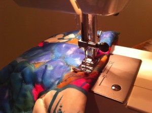 Sew down that new hem!