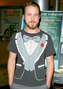 My name is Ryan Gosling and I wear tuxedo t-shirts.