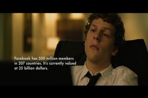 Zuckerberg played by Eisenberg!!