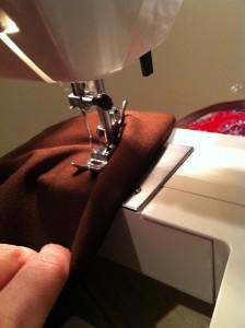 Stitching down!