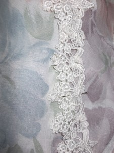 Pinning lace down!!