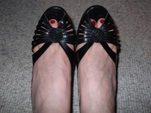 The heels!