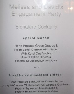 The cocktail menu