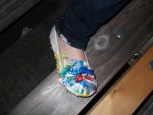 Poor LB's new shoe!