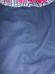 Close up the pleat