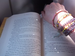 Only room for my book and my sparkly bracelets!