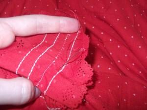 Hand stitchin!