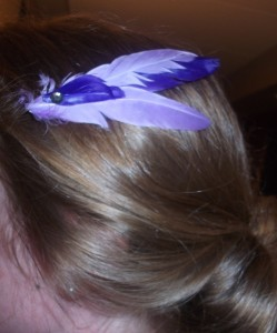 Feather clips for the gals