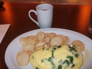 Coffee!! (with a side of omelet)