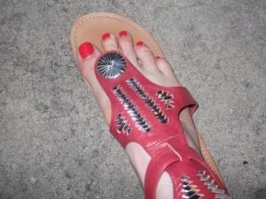 Pre-bandaided Feet!