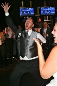 And the groom celebrates!