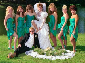 Yay for skrockidesign.com and this fabulous 80s wedding pic!