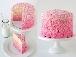 Pink Ombre Cake!! (Fell in love with this from Glorious Treats!)
