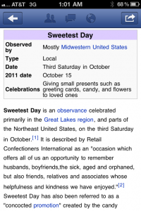Sweetest Day!