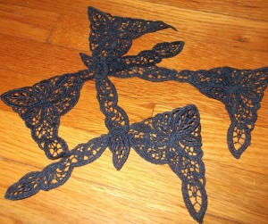 Navy lace!!