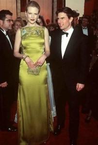 Nicole Kidman's 1997 chartreuse embroidered Dior dress