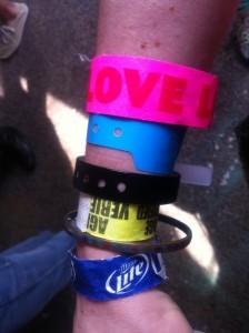 Wrist o'bands!