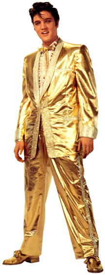 Gold Lame Elvis!