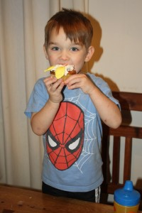 Spidey likes cupcakes!