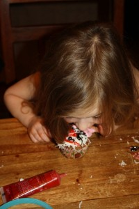 Best way to attack a cupcake!