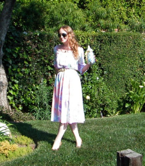 New Dress A Day - DIY - Vintage Dress - Garden Party 178