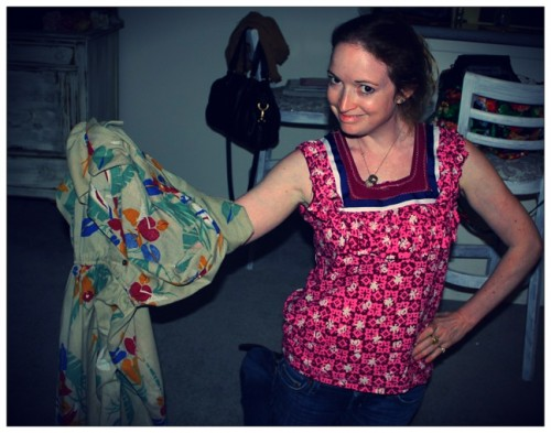 New Dress a Day - DIY - Vintage Muumuu - After with Project 174