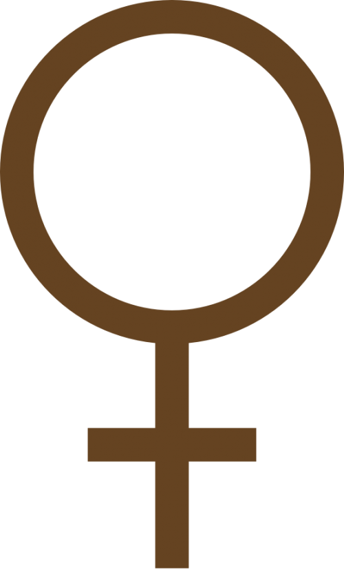 female_symbol_color_colour_dark_brown