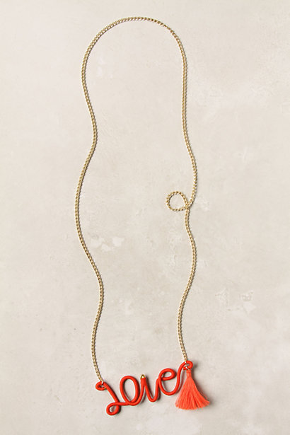 Anthropologie Love Necklace