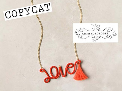 New Dress A Day - Copycat - Anthropologie - Love Necklace