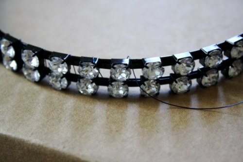 New Dress A Day - Vintage Dress - DIY - Wedding Veil - Wiring Headband 148