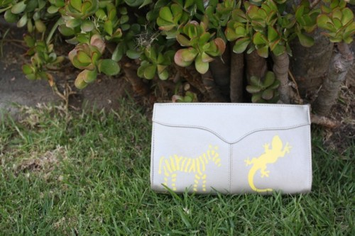 New Dress a Day - DIY - Vintage Clutch - Finished Stencils - 155