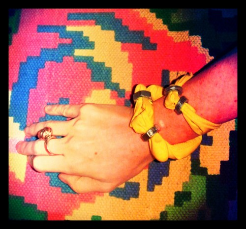 New Dress a Day - DIY - Vintage Dress - Kenzo Copycat - Finished Bracelet - 164