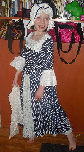 Abigail Adams Costume - After