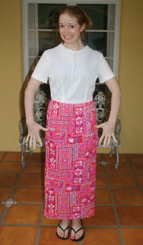 New Dress A Day - DIY - Vintage Dress - Before Shotl - 114