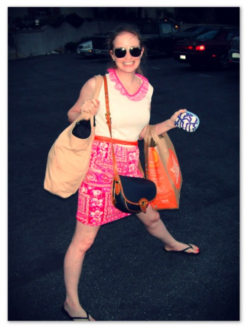 New Dress A Day - DIY - Vintage Dress - Hollywood Bowl Snacks - 114