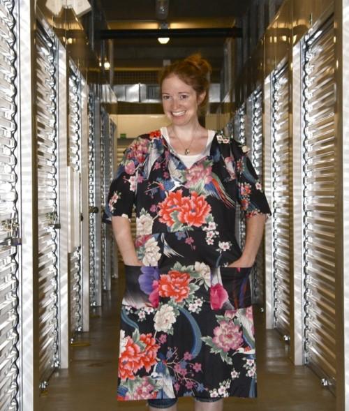 New Dress A Day - VIntage Dress - DIY - Black Floral Before 2- 128