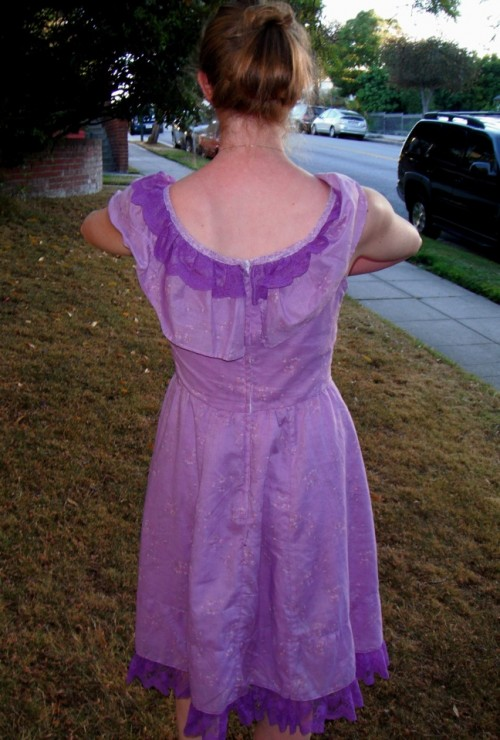 New Dress a Day - DIY - Vintage Dress - After Shot from Behind - 116