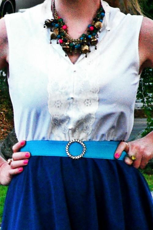 New Dress a Day - DIY - Vintage Dress - Detail ECU - 134