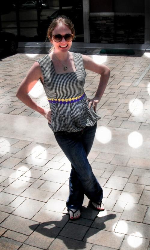 New Dress a Day - DIY - Vintage Dress - Plaid - After Shot - SLR - 141