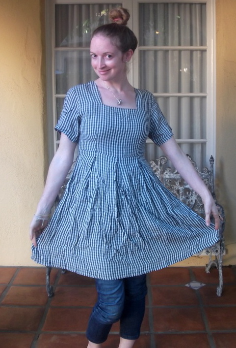 New Dress a Day - DIY - Vintage Dress - Plaid - Before Shot - 141