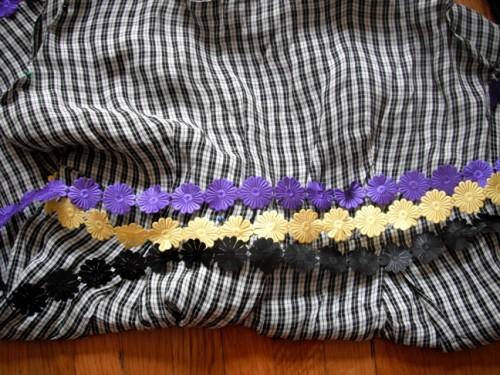 New Dress a Day - DIY - Vintage Dress - Plaid - Floral Ribbon Options - 141